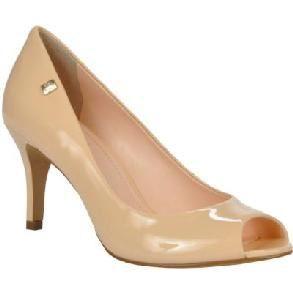 Sapato Peep Toe LOUCOS & SANTOS Verniz Nude (Cream)