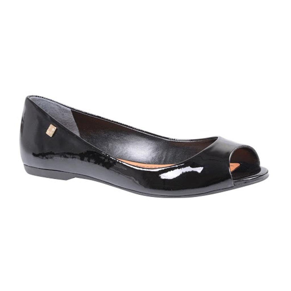 Sapato Peep Toe LOUCOS & SANTOS verniz Preto