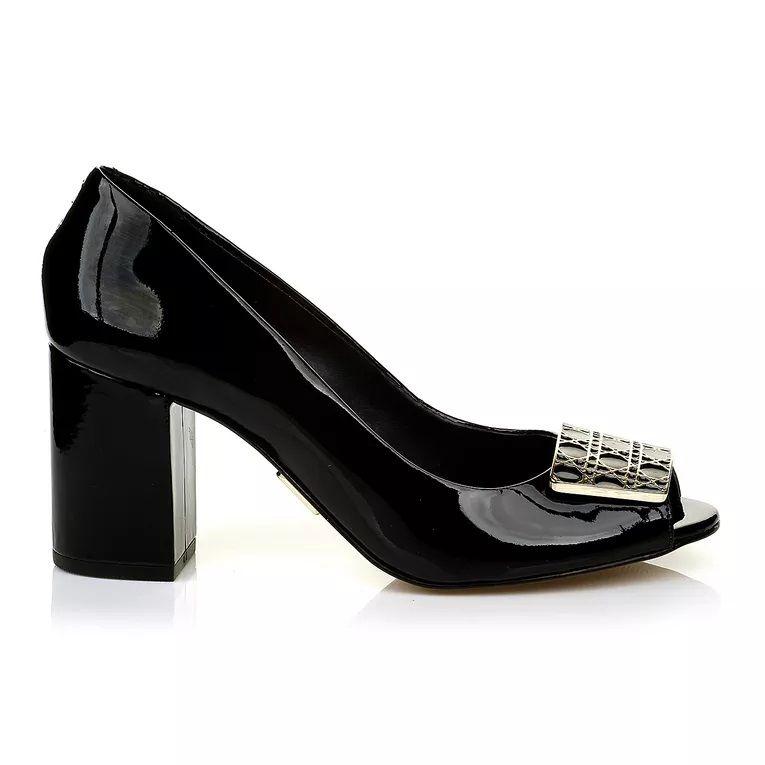 Sapato Peep Toe UZA Lux Preto