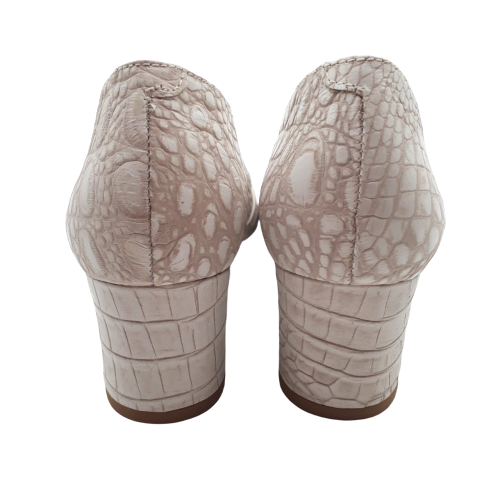 Sapato Peep Toe UZA New Croco Ice