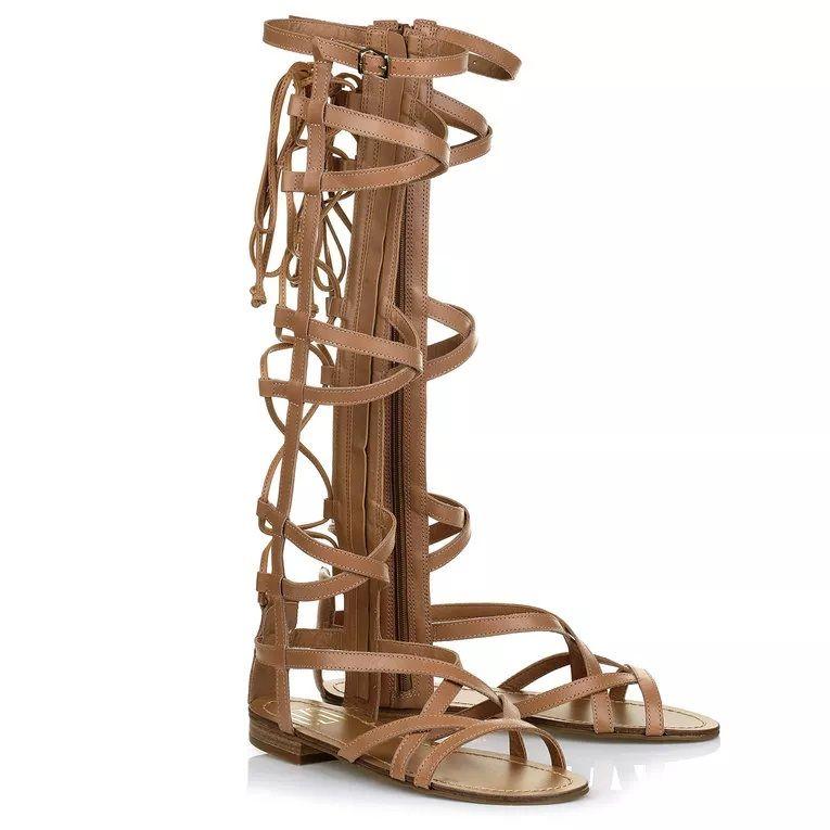 Sandália Gladiadora UZA Camel