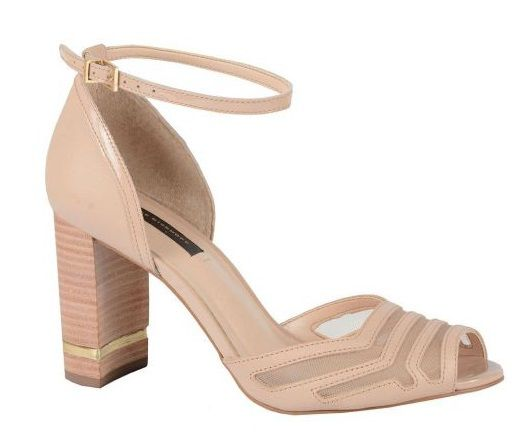 22170efc3 Sandália JORGE BISCHOFF Nude - HAPPY NEW SHOES