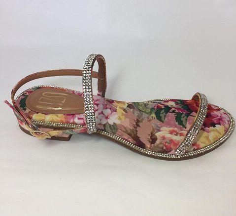 Sandália Rasteira UZA Floral