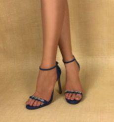 Sandália UZA Jeans Escuro