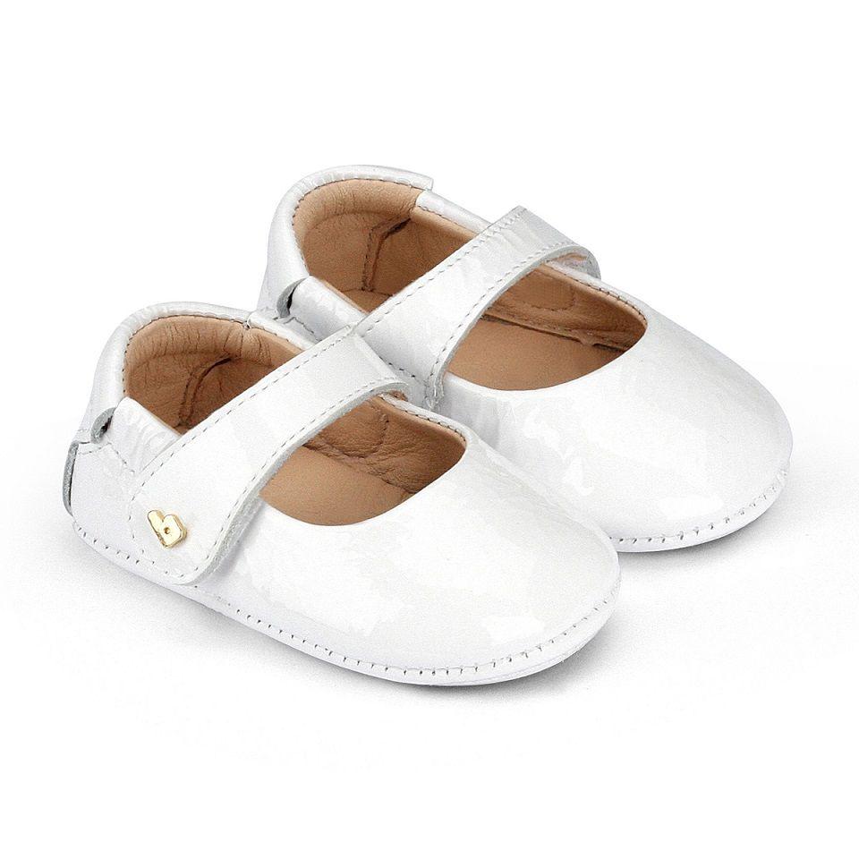 Sapatilha Infantil BIBI Afeto New Feminino Verniz Branco