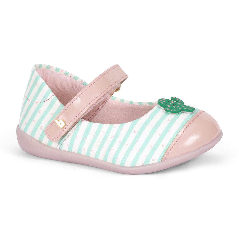 Sapatilha Infantil BIBI  Rainbow Mini Feminina Branco/Sweet/Verde Baby