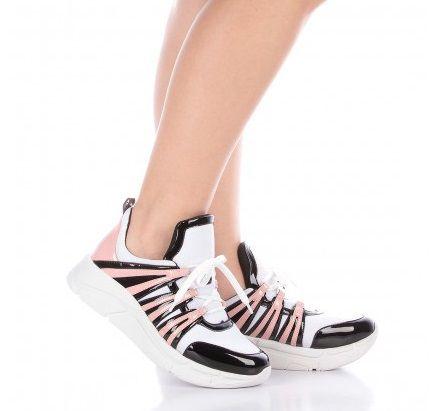Tênis Di VALENTINI Runner Sneaker Vz Preto/Rosa