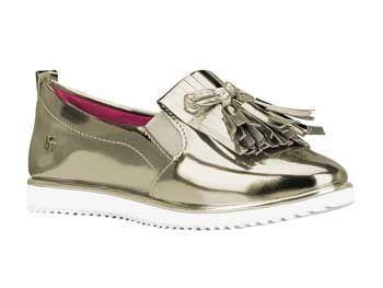 Tênis Infantil Bibi Flat Fashion Dourado