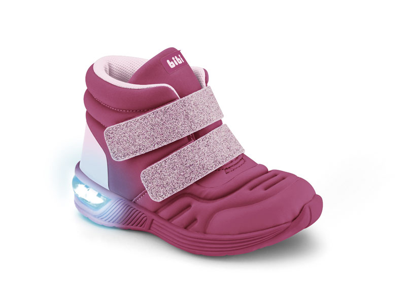 Tênis Space Wave 2.0 BIBI Hot Pink/Gliter Caméla