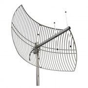 Antena Celular Semi Parabólica Drucos 22dBi 850/900Mhz