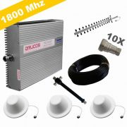 KIT COMPLETO REPETIDOR 1800 Mhz 02 Watts 83dB + ANTENA YAGI 16Dbi + 3 ANTENA OMNI 05dBi