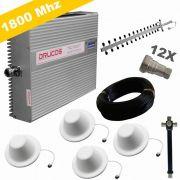 KIT COMPLETO REPETIDOR 1800 Mhz 02 Watts 83dB + ANTENA YAGI 16Dbi + 4 ANTENAS OMNI 05dBi