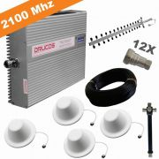 KIT COMPLETO REPETIDOR 2100 Mhz 02 Watts 83dB + ANTENA YAGI 16Dbi + 4 ANTENAS OMNI 05dBi