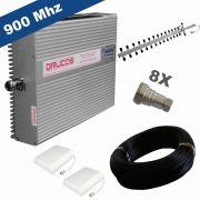 KIT COMPLETO REPETIDOR 900 Mhz 02 Watts 83dB + ANTENA YAGI 18Dbi + 02 ANTENAS PAINEL SETORIAL 10dBi