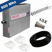KIT COMPLETO REPETIDOR 900 Mhz 02 Watts 83dB + ANTENA YAGI 18Dbi + 03 ANTENAS PAINEL SETORIAL 10dBi