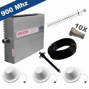 KIT COMPLETO REPETIDOR 900 Mhz 02 Watts 83dB + ANTENA YAGI 18Dbi + 3 ANTENAS OMNI 05dBi