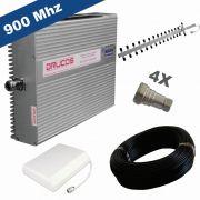 KIT COMPLETO REPETIDOR 900 Mhz 02 Watts 83dB + ANTENA YAGI 18Dbi + ANTENA PAINEL SETORIAL 10dBi