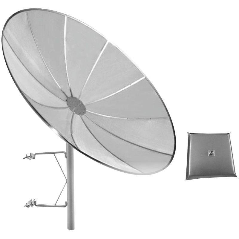 ANTENA CELULAR PARABÓLICA  28DBI 850/900 Mhz 1,70 M TELADA C/ SUPORTE TORRE E ALIMENTADOR