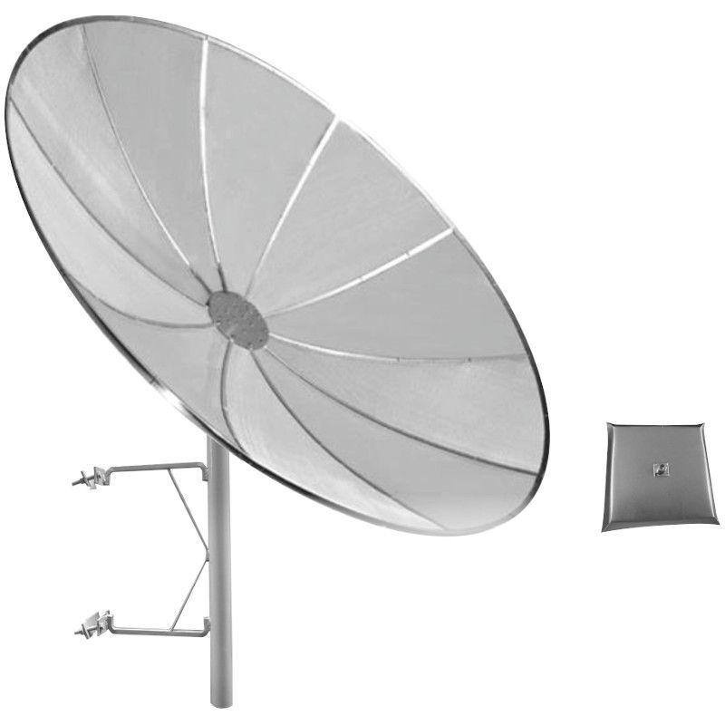 ANTENA CELULAR PARABÓLICA 29 DBI 1800/2100 Mhz 1,70 M TELADA C/ SUPORTE TORRE E ALIMENTADOR