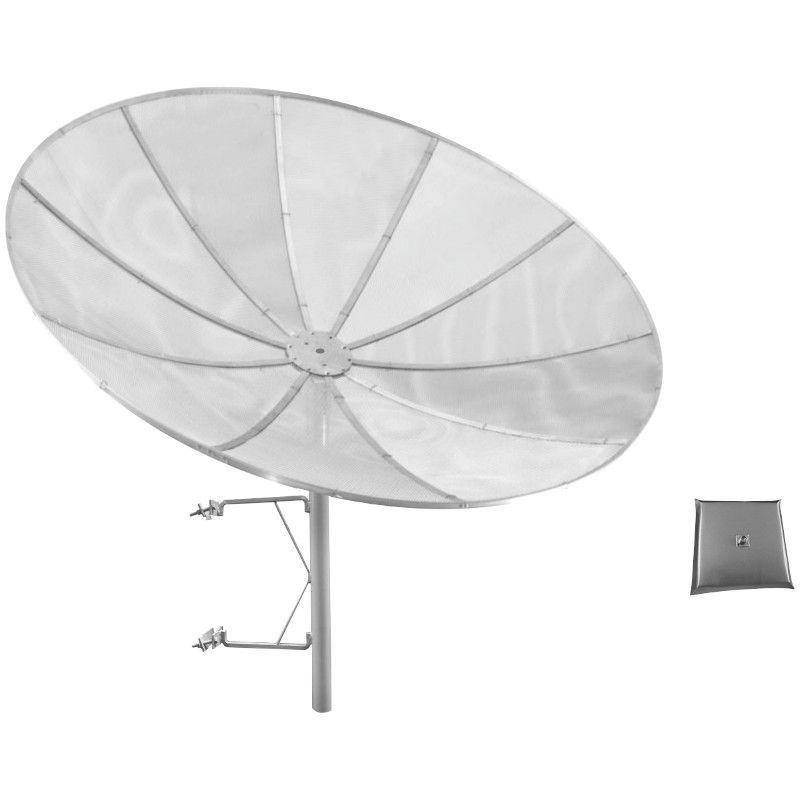 ANTENA CELULAR PARABÓLICA 30 DBI 1800/2100 Mhz 1,90 M TELADA C/ SUPORTE TORRE E ALIMENTADOR