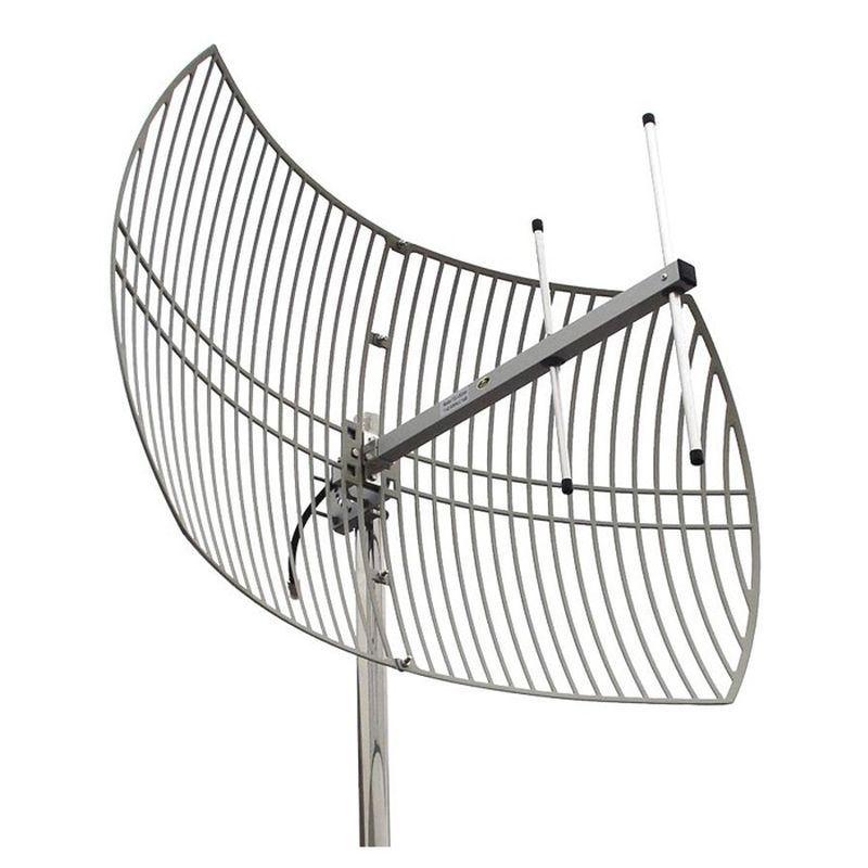 Antena Celular Semi Parabólica Drucos 22dBi 900Mhz