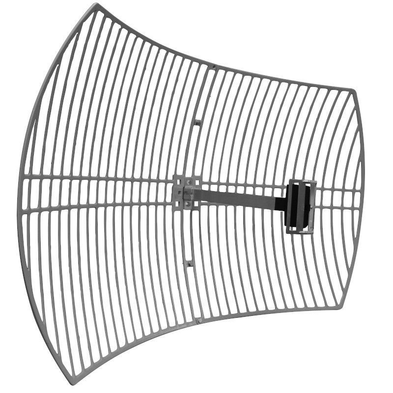 Antena Celular Semi Parabólica Drucos 24dBi 1800Mhz