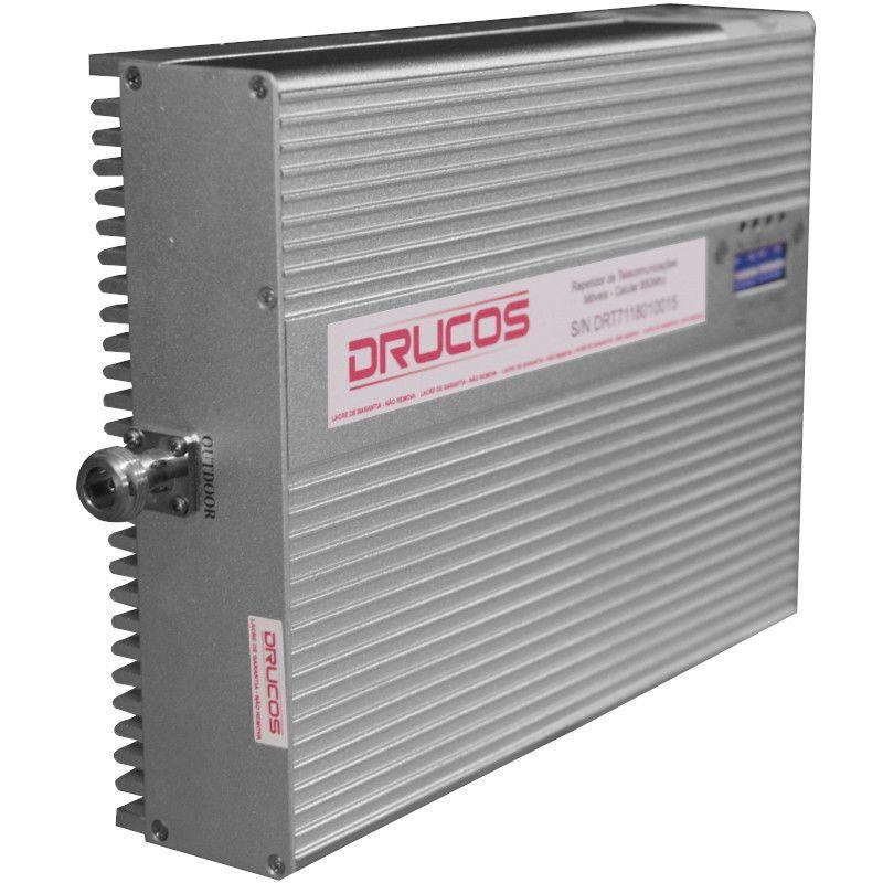 Repetidor Celular Drucos 850 MHZ 02 Watts 83DB