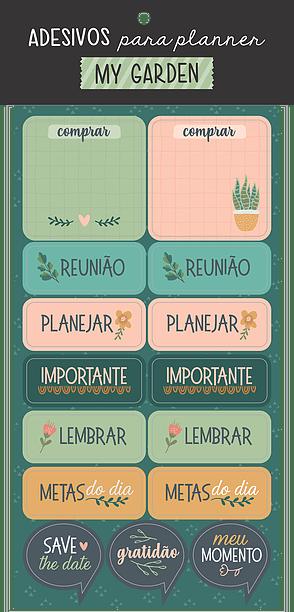 Folha de Adesivos/Etiquetas para Planner - Cartões Gigantes
