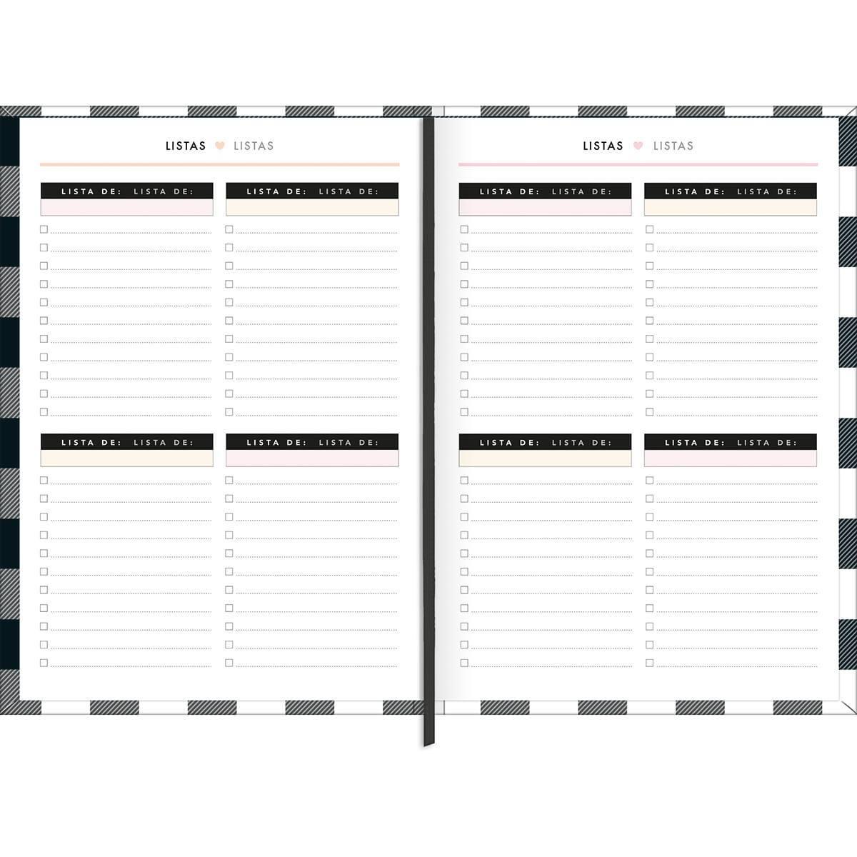 Agenda/Planner Costurado 13,5 x 19,2 cm West Village 2021 - Tilibra