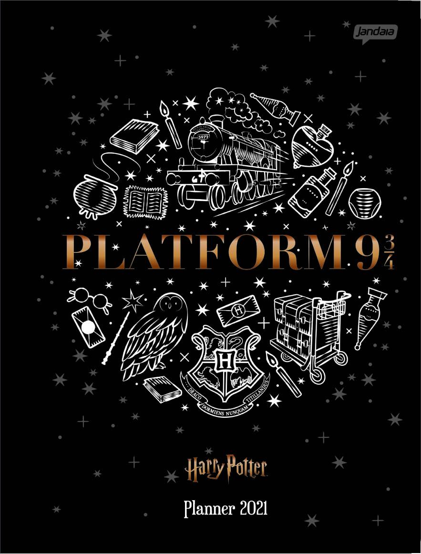 Agenda/Planner Mensal 2021 Brochura Flex 40PGs 190x248mm Harry Potter - Jandaia