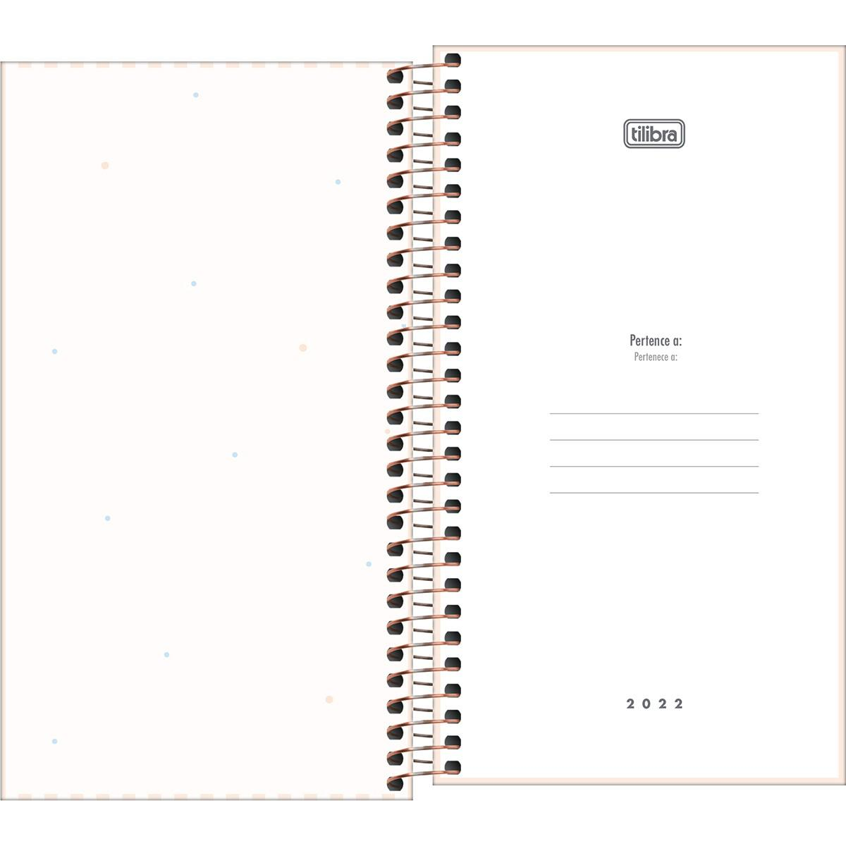 Agenda Espiral Semanal 16,7 x 8,9cm Soho 2022 - Tilibra