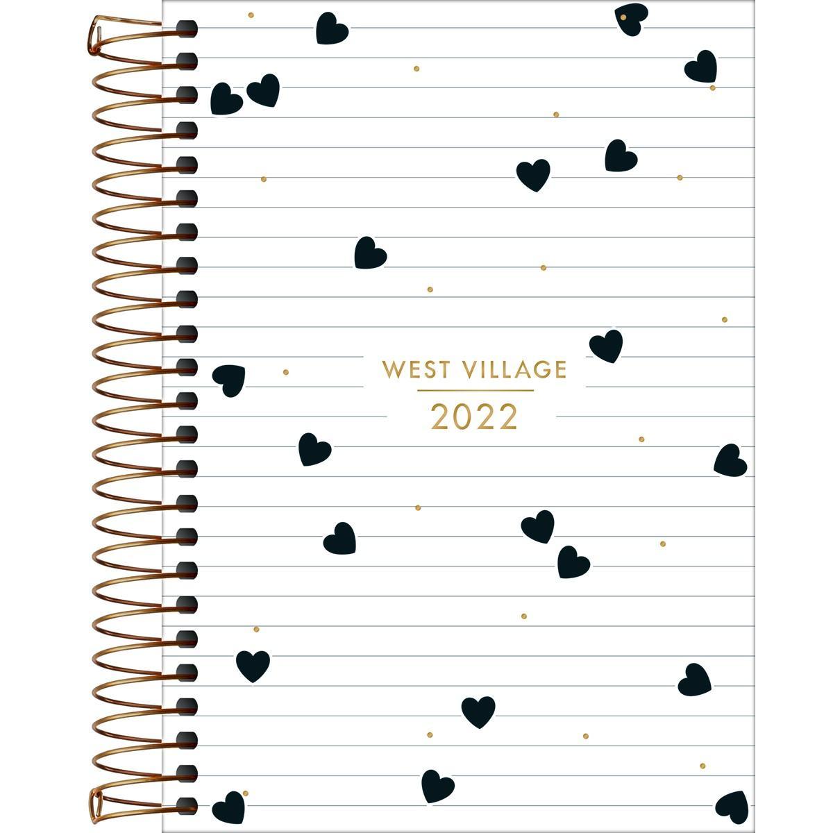 Agenda Espiral Diária 14 X 20cm West Village 2022 M6 - Tilibra
