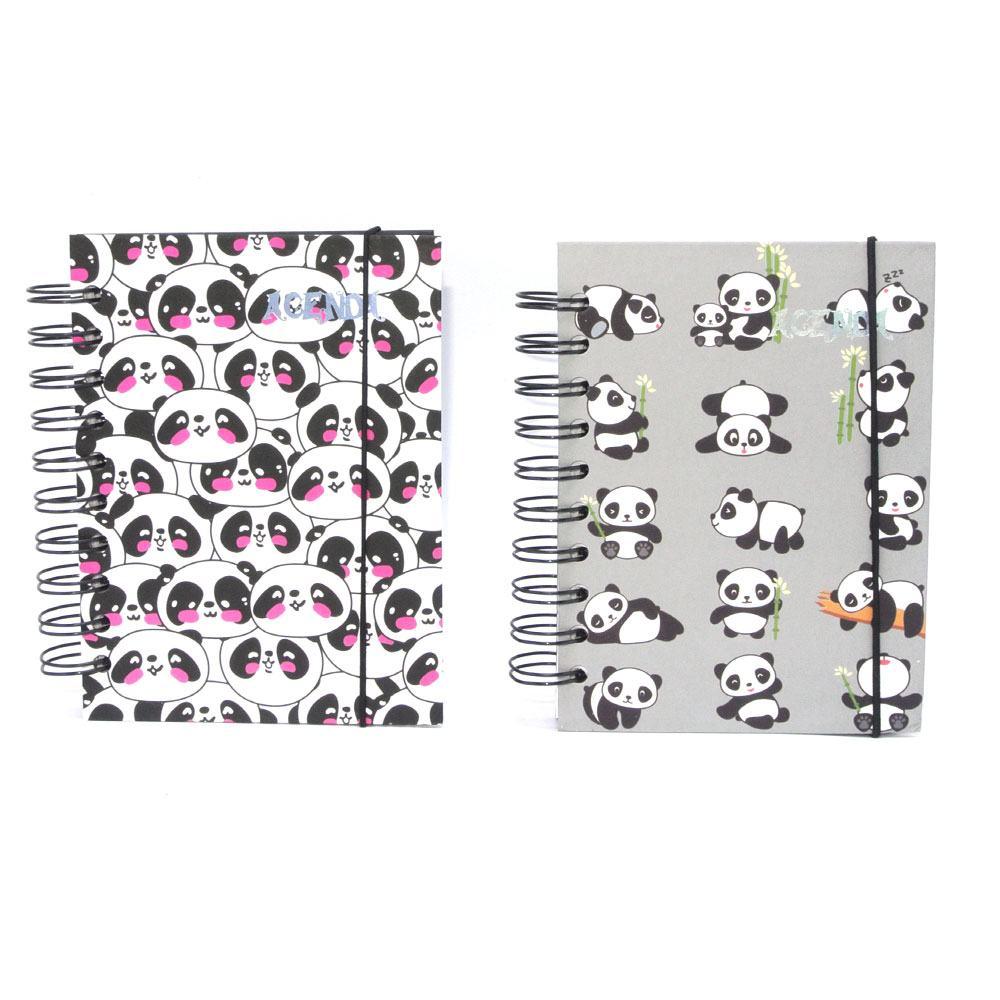 Agenda Permanente Panda 10x14 cm 160 Folhas