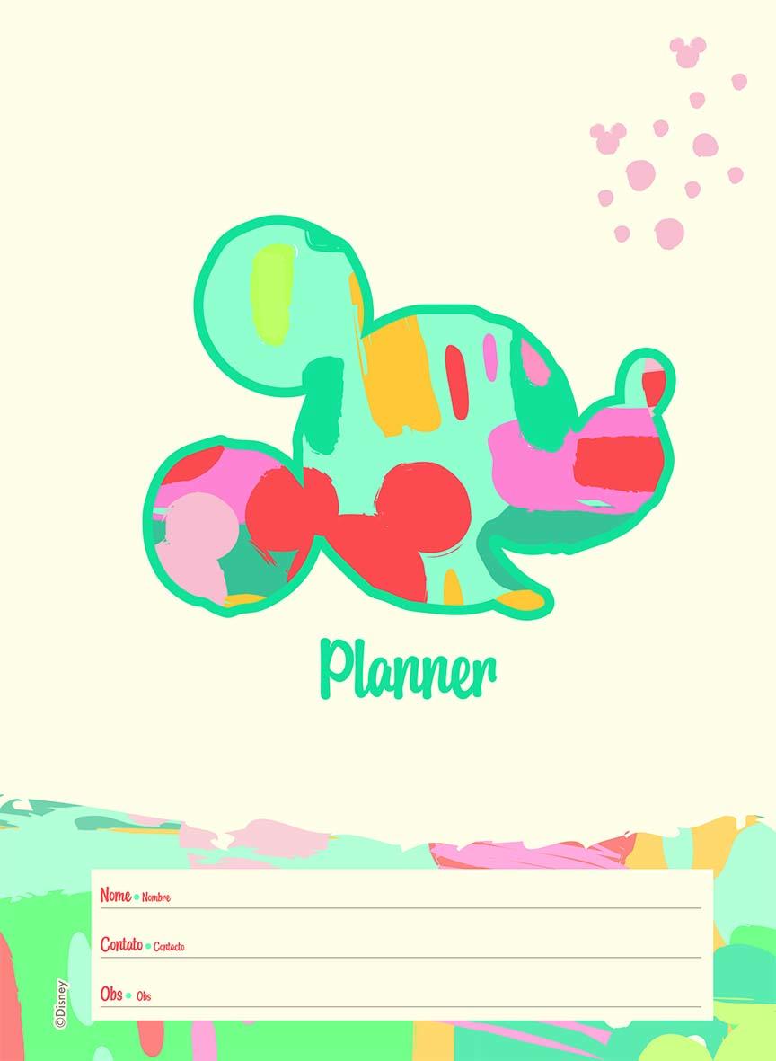 Agenda Planner Espiral 2021 177X242MM Mickey Arts - Jandaia