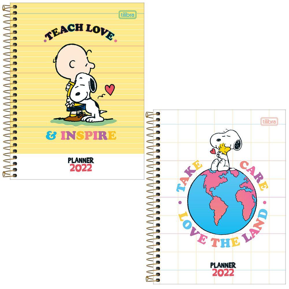 Agenda Planner Espiral 17,7 x 24cm Snoopy 2022 - Tilibra