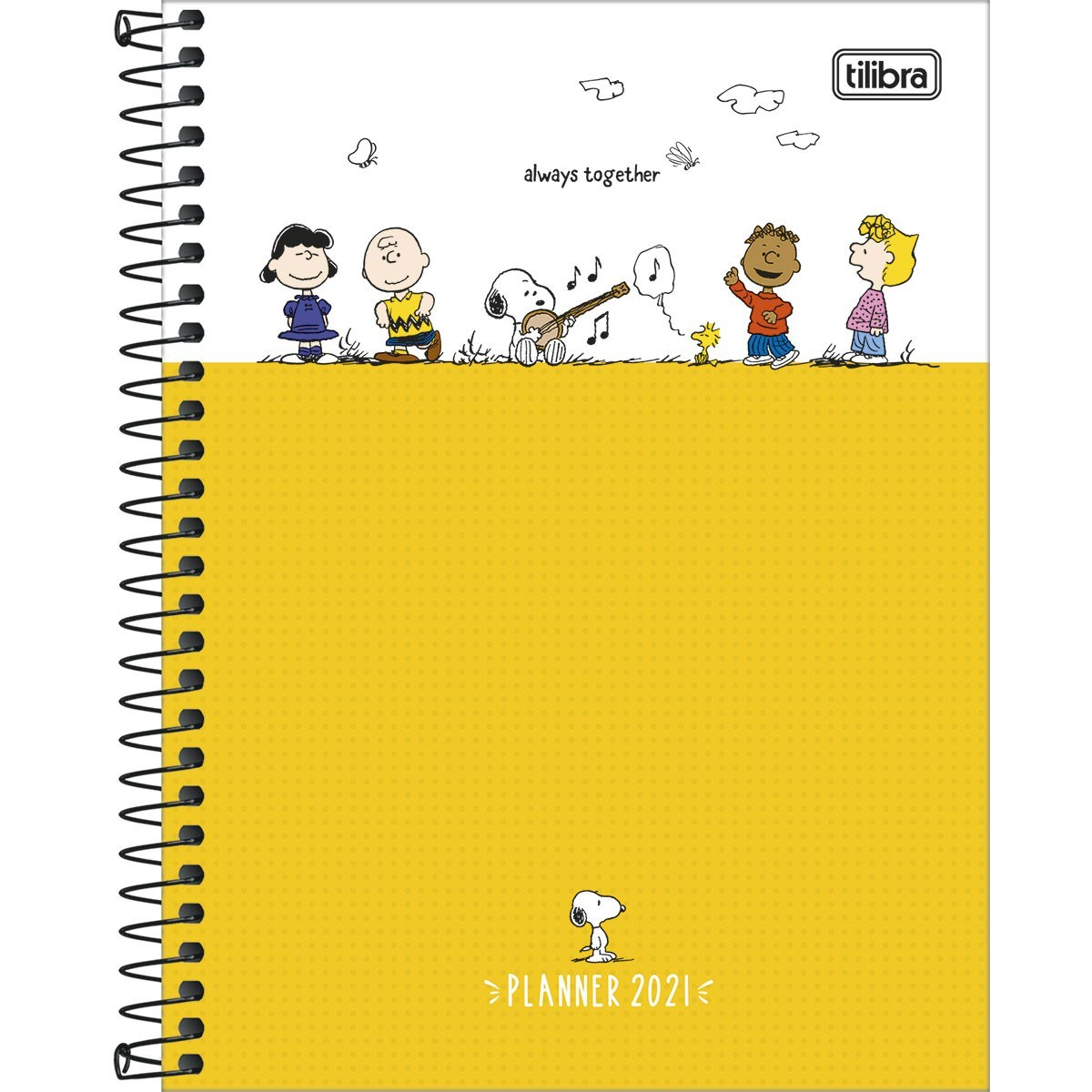 Agenda Planner Espiral Snoopy 2021 - Tilibra