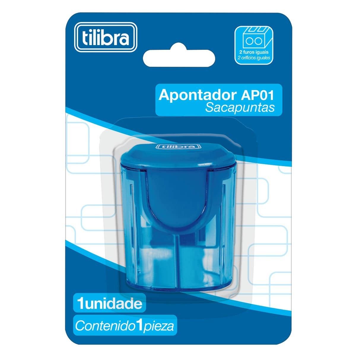 Apontador 2 Furos C/ Depósito AP01 - Tilibra