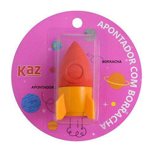 Apontador Coletor Com Borracha Foguete - KAZ