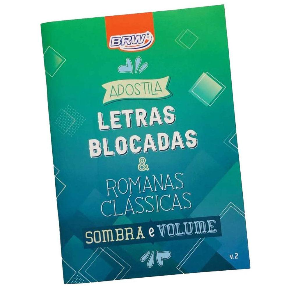 Apostila Lettering - Letras Blocadas Volume 2 - BRW