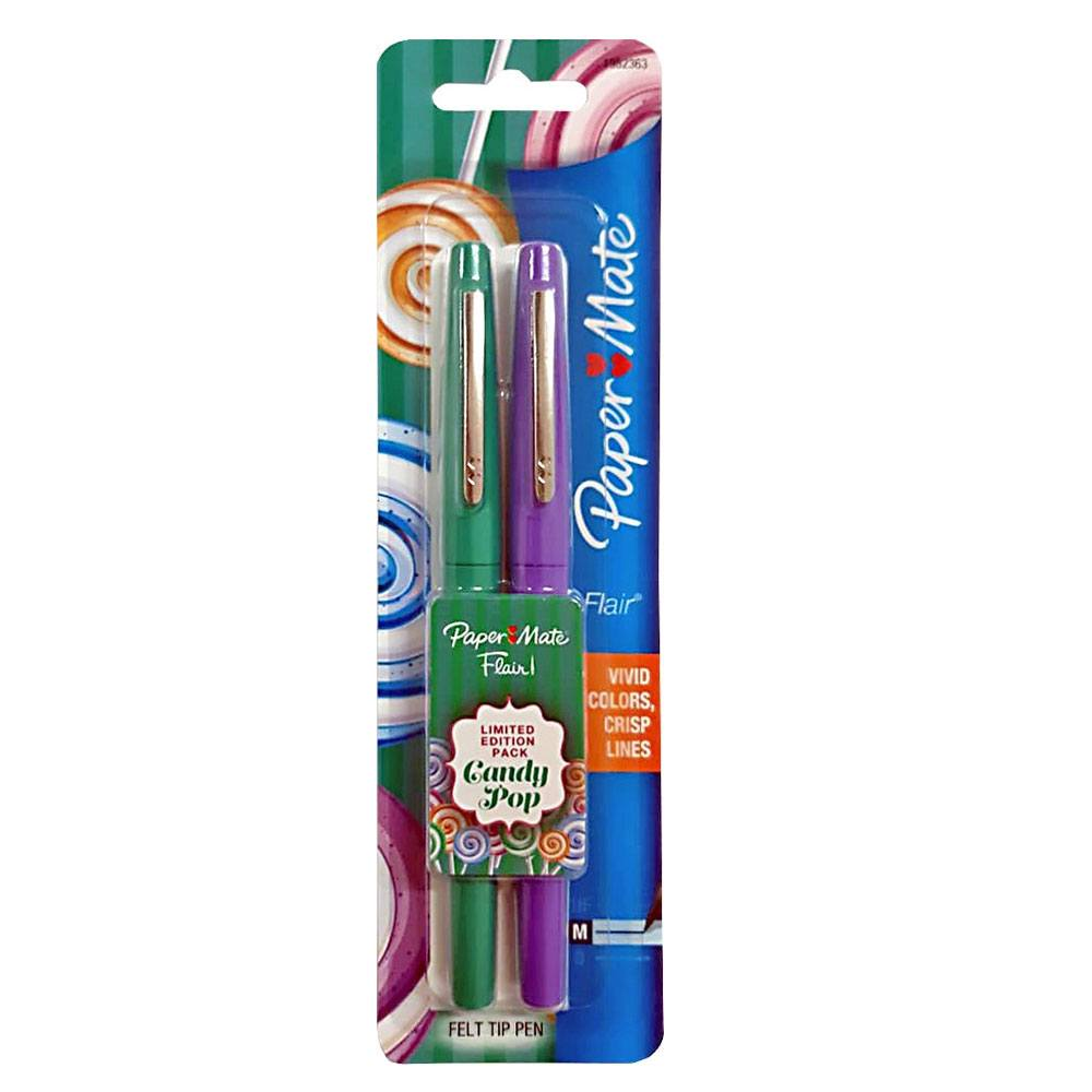 Caneta Hidrográfica Flair Média 0.7mm Candy Pop C/ 2 Cores - Paper Mate