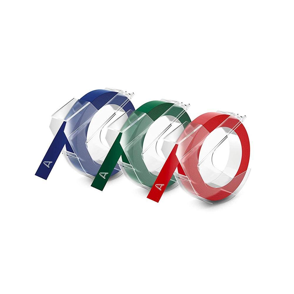 Fita Vinílica p/ Rotulador Manual Sortidas Plástica BT 3 UN. - DYMO