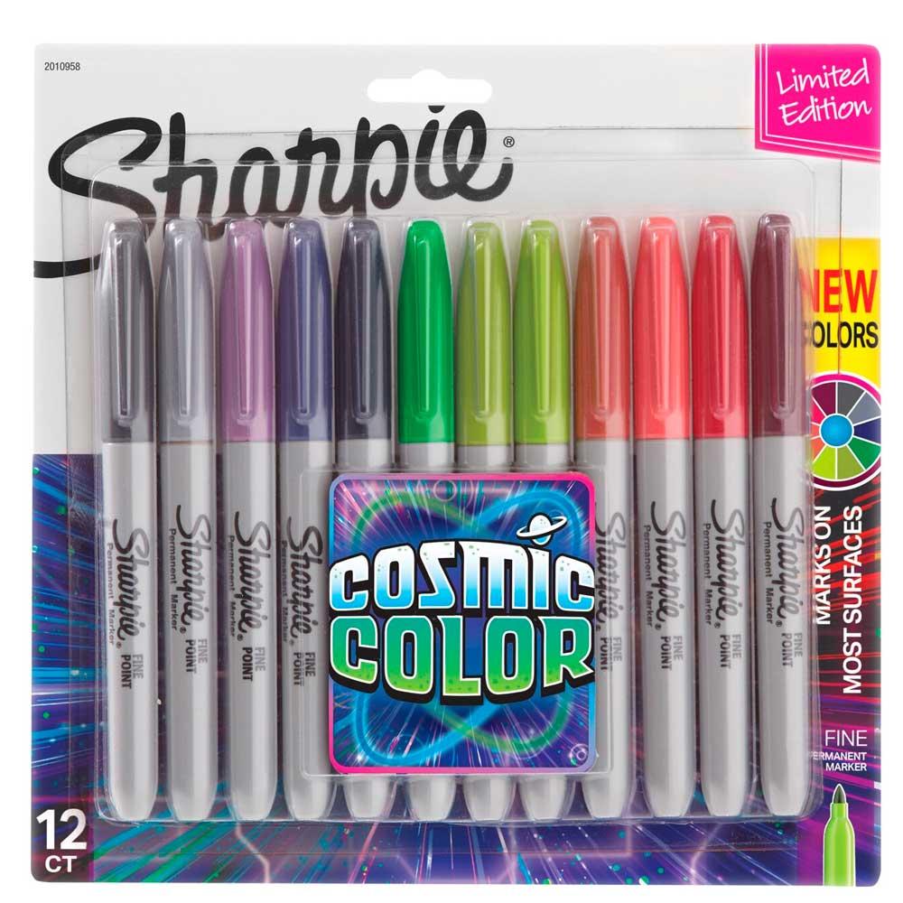Marcador Permanente Fino Cosmic Colors C/ 12 Cores  - Sharpie