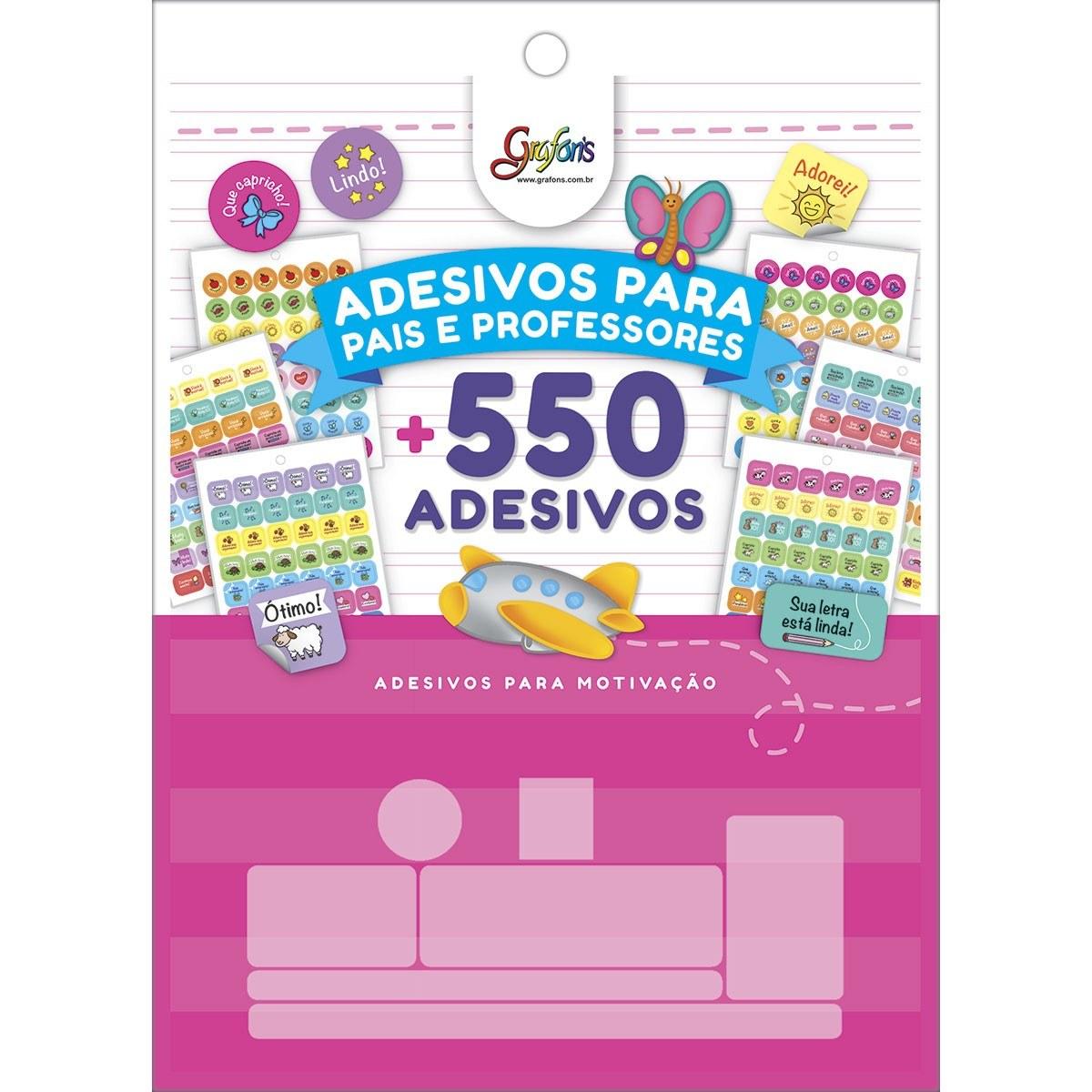 Bloco de Adesivos Decorativos P/ Professores Grafon´s 12 Fls - Tilibra