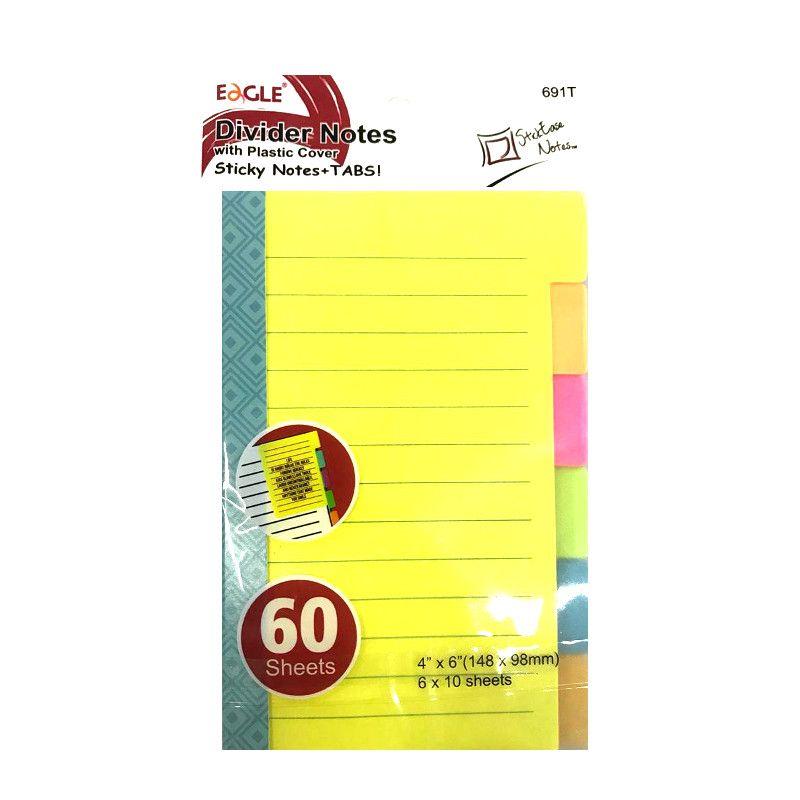 Bloco de Anotações Adesivo Sticky Notes  C/ Pauta- Eagle