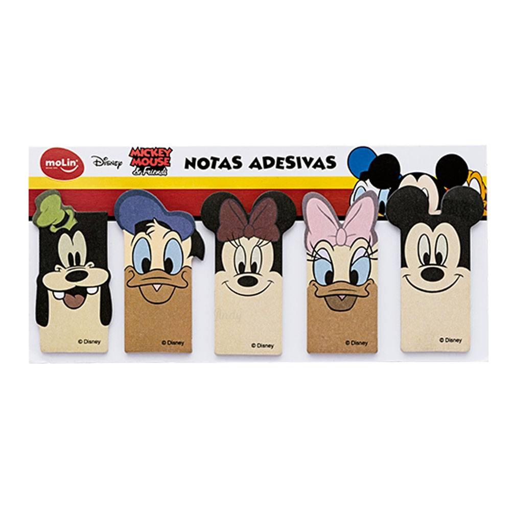 Bloco de Marcador de Páginas Adesivo Mickey 5 Bl C/ 25 Fls Cada - Molin