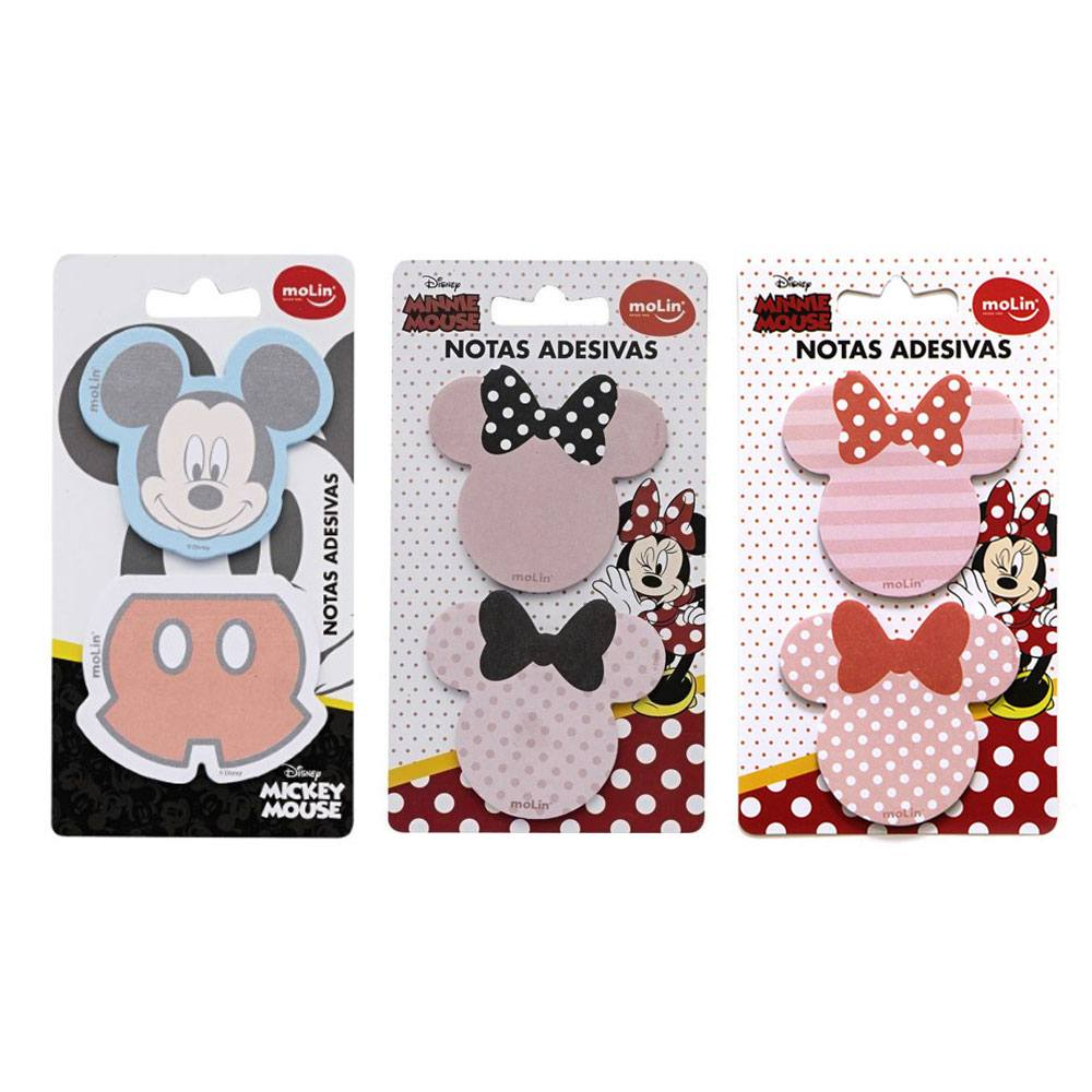 Bloco de Notas Autoadesivo Mickey/Minnie C/ 50 Fls - Molin