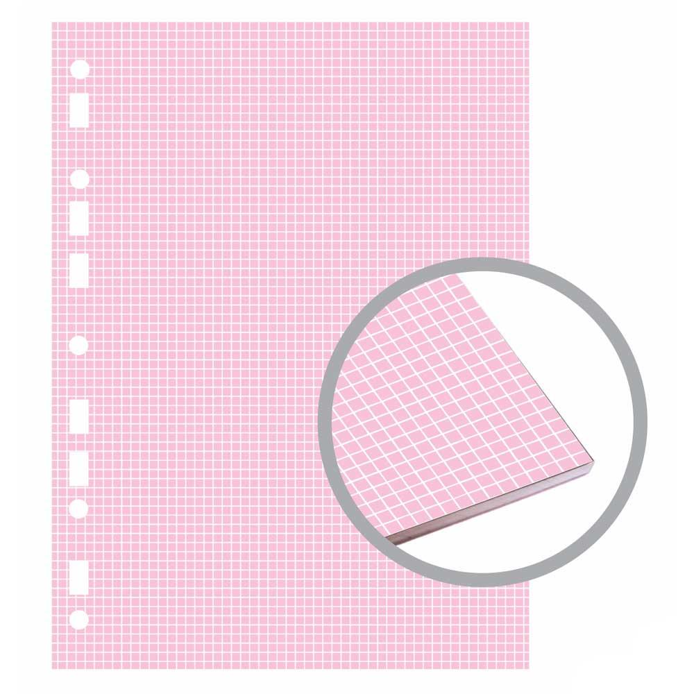 Bloco Fichário Colegial Candy Quadriculado 90g/m² 40 Fls - Merci