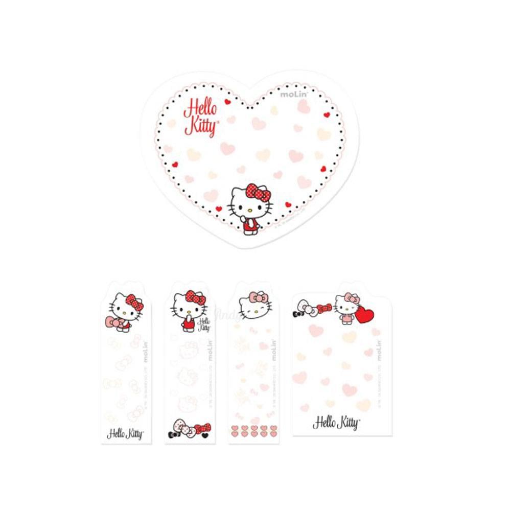 Bloco Notas Adesivas Hello Kitty C/5 Blocos Total 150 Fls - Molin