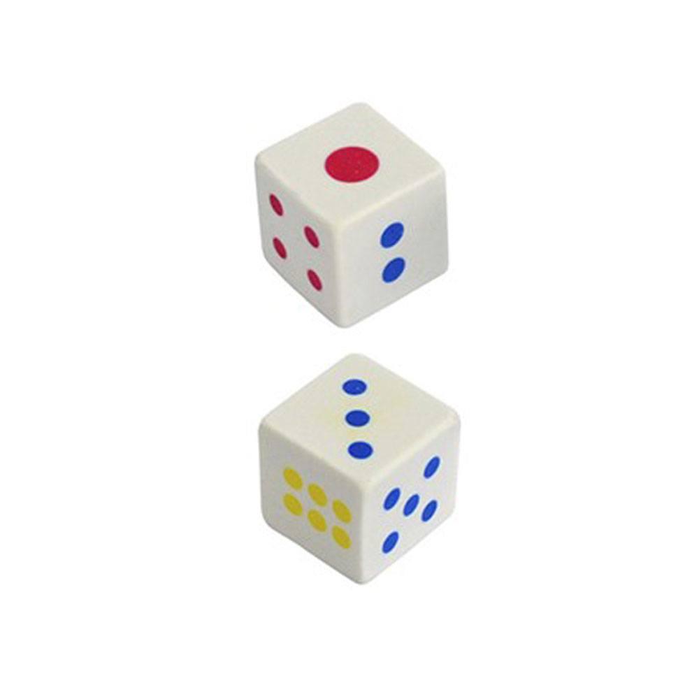Borracha Branca Quadrada Estampa Dado - KAZ
