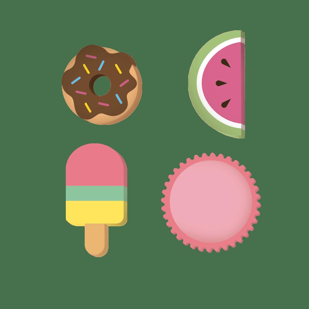 Borracha Plástica Food Trends Forma Sortida - Leo & Leo